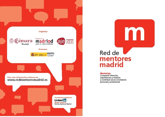 Folleto red de mentores Madrid